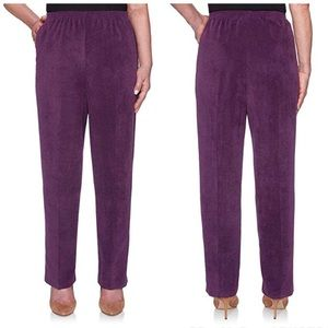 Alfred Dunner Amethyst Corduroy Pants